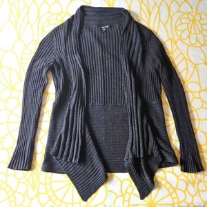 Eileen Fisher Ribbed Waterfall Cardigan